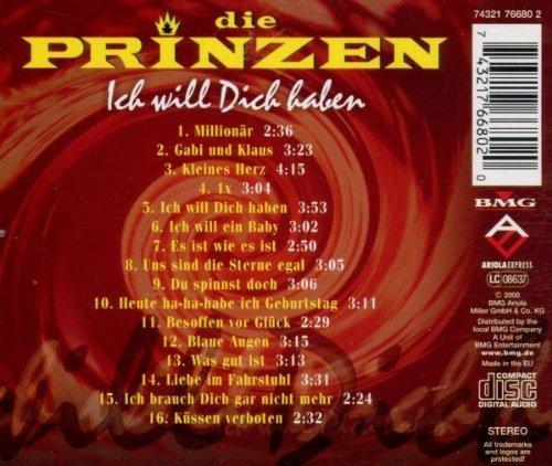 Bild 2: Die Prinzen, Ich will dich haben (compilation, 16 tracks, 1991-96/2000)