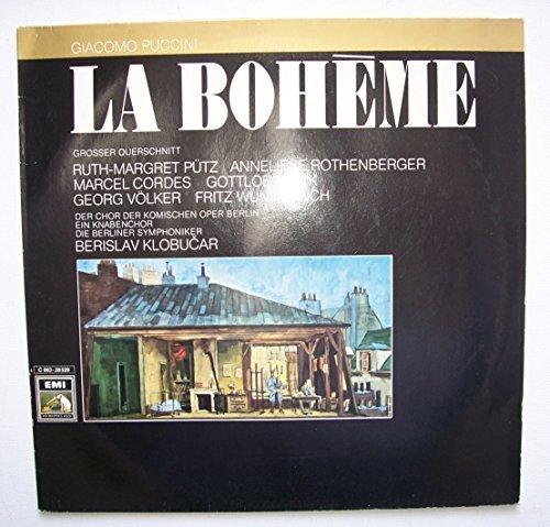 Bild 1: Puccini, La bohème-Querschnitt (deutsch; EMI) (Fritz Wunderlich, Gottlob Frick, Ruth-Margret Pütz, Berliner Symphoniker/Klobucar)