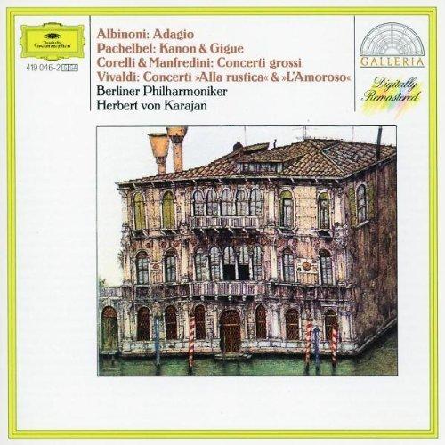 Bild 1: Albinoni, Adagio g-moll/Pachelbel: Kanon & Gigue/Corelli & Manfredini: Concerti grossi.. (1970-72, DG/Galleria) (Berliner Philharmoniker/Karajan)