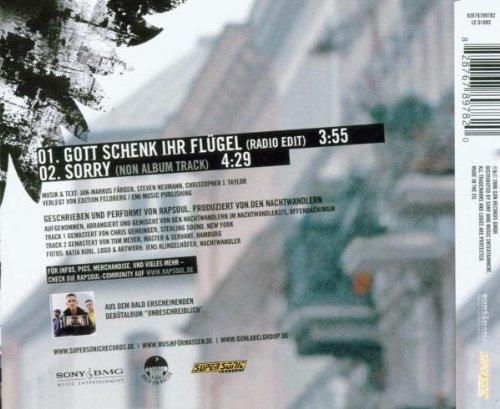 Bild 2: Rapsoul, Gott schenk ihr Flügel (2006; 2 tracks)