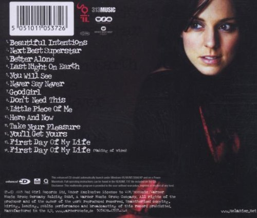 Bild 2: Melanie C, Beautiful intentions (2005, incl. 'First day of my life')