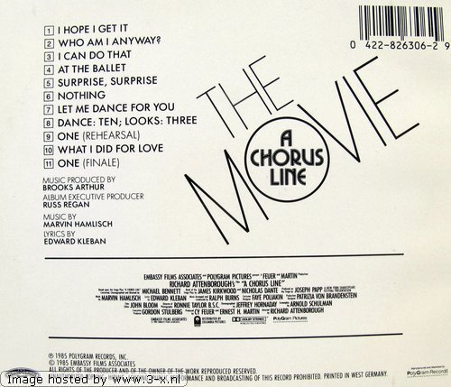 Bild 2: A Chorus Line-The Movie (1985), Original motion picture soundtrack