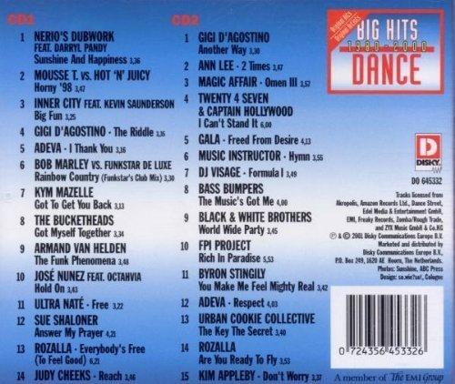 Bild 2: Big Hits 1980-2000-Dance (29 tracks), Nerio's Dubwork, Mousse T. vs. Hot 'n' Juicy, Gigi D'Agostino, Kym Mazelle..