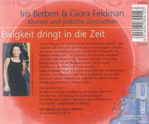 Bild 2: Iris Berben, Ewigkeit dringt in die Zeit-Klezmer und jüdische Geschichten (2004, & Giora Feidman)