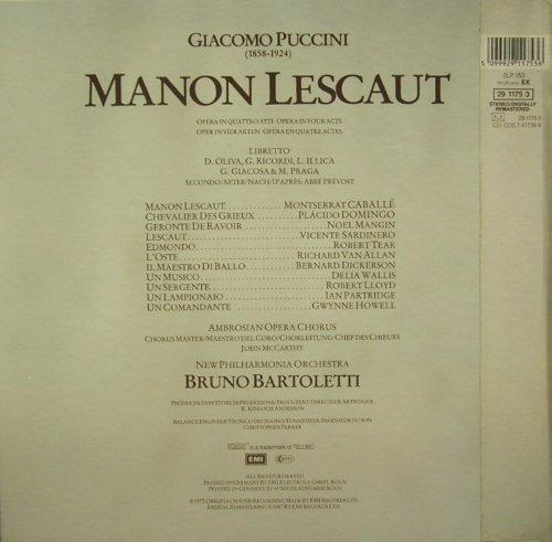 Bild 2: Puccini, Manon Lescaut (EMI, Box) (Montserrat Caballé, Placido Domingo, New Philharmonia Orch. London/Bruno Bartoletti)