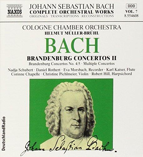 Bild 1: Bach, Complete orchestral works 7: Brandenburgische Konzerte Nrn. 4, 5, BWV 1049/50/Konzerte BWV 1044, 1057 (Naxos, 1999) Cologne Chamber Orch./Müller-Brühl