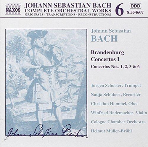 Bild 1: Bach, Complete orchestral works 6: Brandenburgische Konzerte Nrn. 1-3, 6, BWV 1046-48/1051 (Naxos, 1999) Cologne Chamber Orch./Müller-Brühl