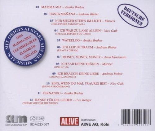 Bild 2: Abba, Mamma Mia! (Musicalstars singen Abba in German, 2004: Annika Bruhns, Andreas Bieber..)