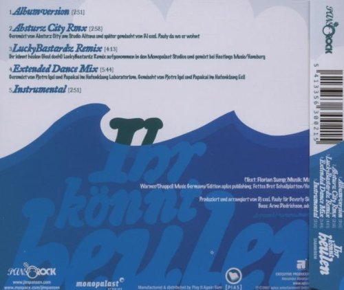 Bild 2: Jim Pansen, Ihr könnt heulen (5 versions, 2007, feat. Mo)