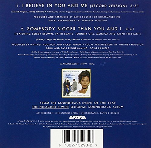 Фото 2: Whitney Houston, I believe in you and me (US, 2 tracks, 1996, cardsleeve)