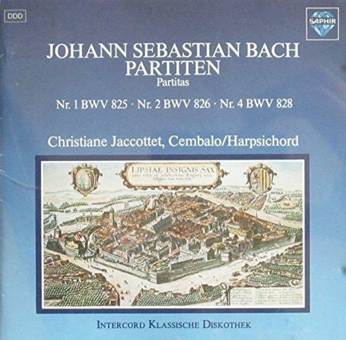Bild 1: Bach, Partiten, Nr. 1 BWV 825, Nr. 2 BWV 826, Nr. 4 BWV 828 (1984/86, Saphir) (Christiane Jaccottet)