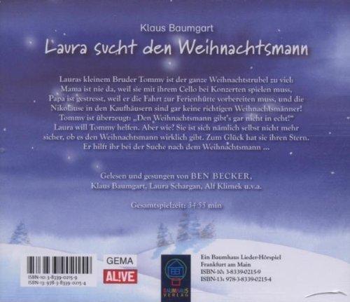 Bild 2: Klaus Baumgart, Laura sucht den Weihnachtsmann (Leser: Ben Becker)