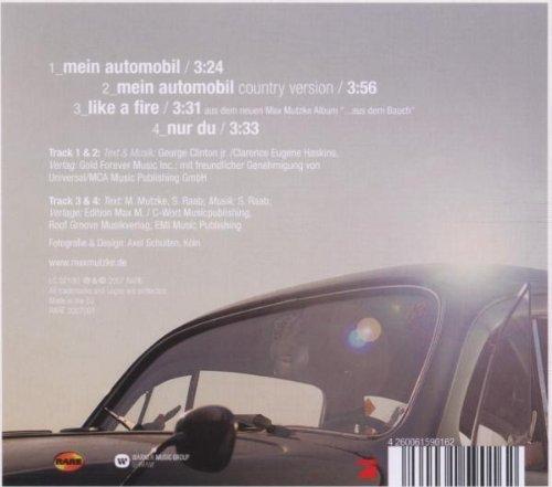 Bild 2: Max Mutzke, Mein Automobil (2007, digi)