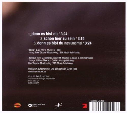 Bild 2: Max Mutzke, Denn es bist du (2007, digi)