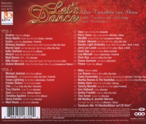 Bild 2: Let's Dance 2-Die Tanzhits zur Show (2007, RTL), Shakira, Ricky Martin, Sasha, Whitney Houston, Wham!, Seal, Abba..