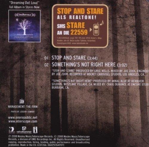 Bild 2: One Republic, Stop and stare (2008; 2 tracks)