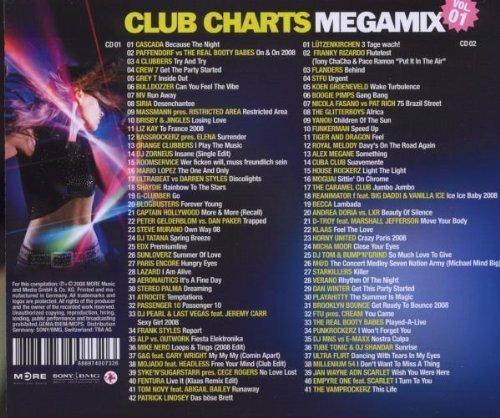Bild 2: Club Charts Megamix 1 (2008), Cascada, 4 Clubbers, Grey T, Lützenkirchen, Yanou..