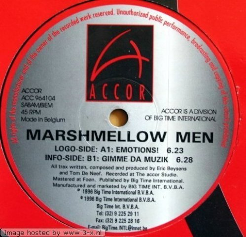 Bild 1: Marshmellow Men, Emotions/Gimme da muzik (BEL, 1996)