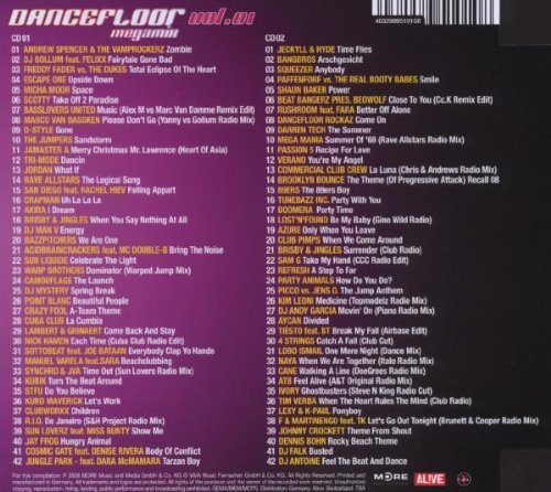 Bild 2: Dancefloor Megamix 1 (2008), Andrew Spencer & The Vamprockerz, Scotty, Akira, Squeezer..