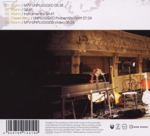 Bild 2: Xavier Naidoo, Wann (2008, feat. Cassandra Steen)