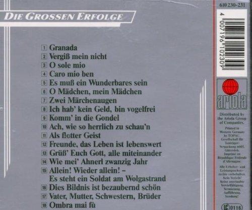 Bild 2: Fritz Wunderlich, Die unvergessene Stimme-Die grossen Erfolge (Ariola)