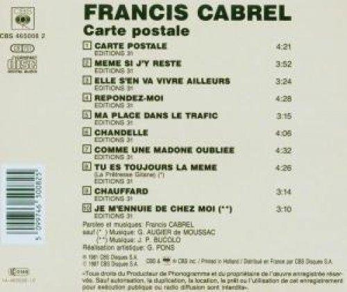 Bild 2: Francis Cabrel, Carte postale (1981/87)