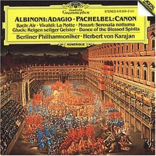 Bild 1: Albinoni, Adagio g-moll/Pachelbel: Kanon & Gigue/Bach: Air.., BWV 1068.. (DG, 1984) (Berliner Philharmoniker/Karajan)
