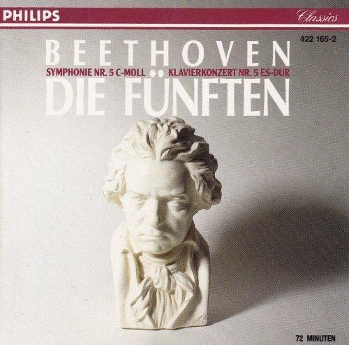 Bild 1: Beethoven, Sinfonie Nr. 5, op. 67/Klavierkonzert Nr. 5, op. 73 (Philips, 1969) (Concertgebouw Orkest/Jochum, Stephen Bishop-Kovacevich, London Symphony Orch./Davis)