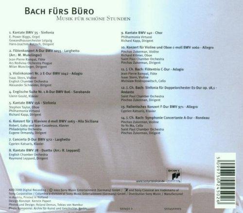 Bild 2: Bach, Fürs Büro (Sony, 2001) (Gewandhausorch. Leipzig/Rotzsch, Jean-Pierre Rampal, Isaac Stern..)