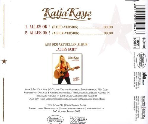 Bild 2: Katja Kaye, Alles ok! (2 tracks, 2008)