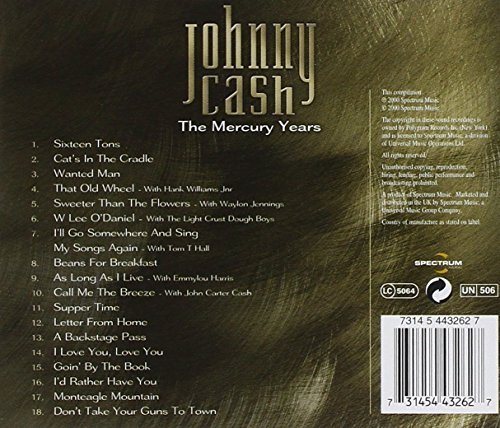 Bild 2: Johnny Cash, Mercury years (18 tracks, 2000)