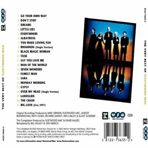 Bild 2: Fleetwood Mac, Very best of (21 tracks, 1968-97/2002)