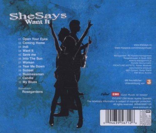Bild 2: SheSays, Want it (2007)