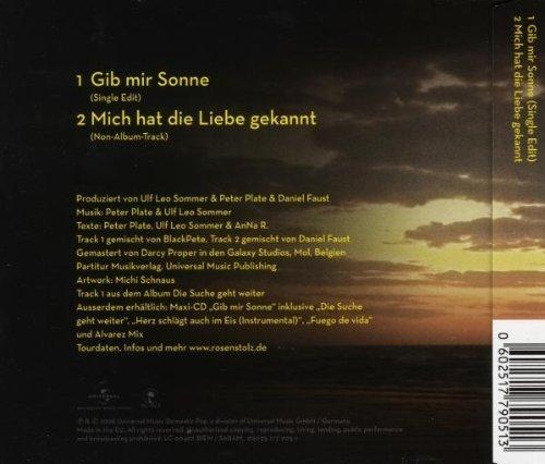 Bild 2: Rosenstolz, Gib mir Sonne (2008; 2 tracks)