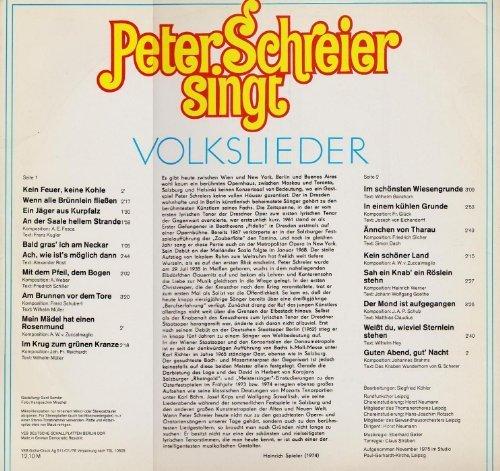 Bild 2: Peter Schreier, Singt Volkslieder (ETERNA)
