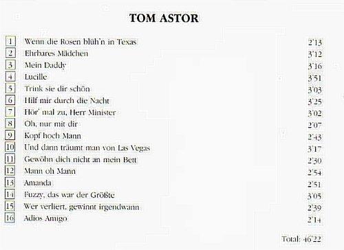 Bild 2: Tom Astor, Same (compilation, 16 tracks)
