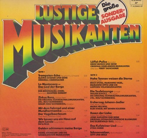 Image 2: Lustige Musikanten-Die große Sonderausgabe, Slavko Avsenik, Montanara-Chor, Original Schwarwaldmusikanten, Pat & Paul, ..
