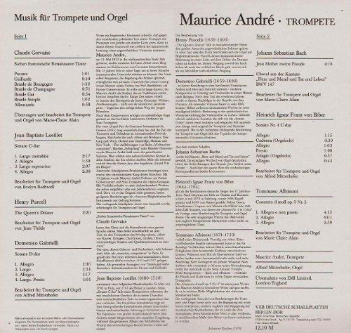 Фото 2: Maurice André, Musik für Trompete und Orgel (ETERNA, #827052) (Alfred Mitterhofer, Orgel)