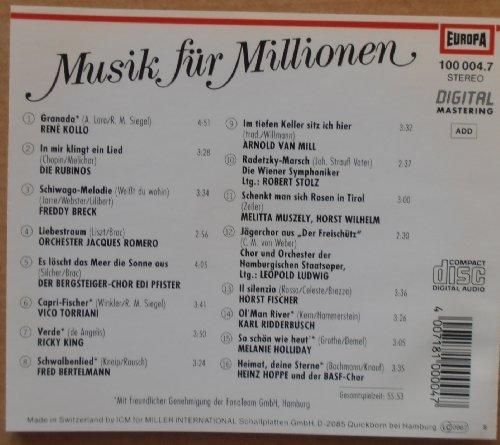 Bild 2: Musik für Millionen (Europa), René Kollo, Rubinos, Freddy Breck, Orchester Jacques Romero, Bergsteiger-Chor Edi Pfister...