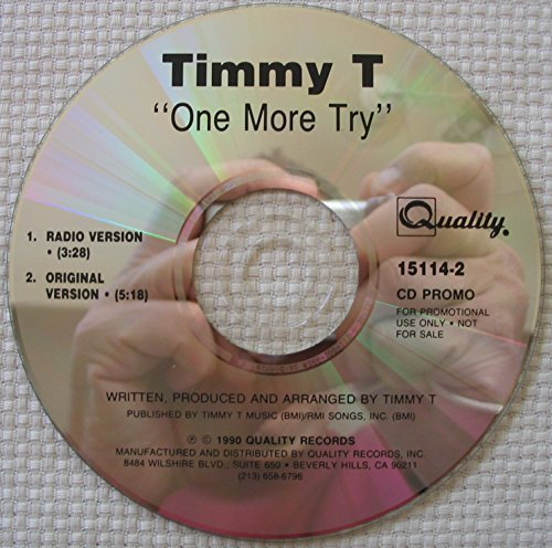 Bild 1: Timmy T, One more try (cardsleeve, 1991)