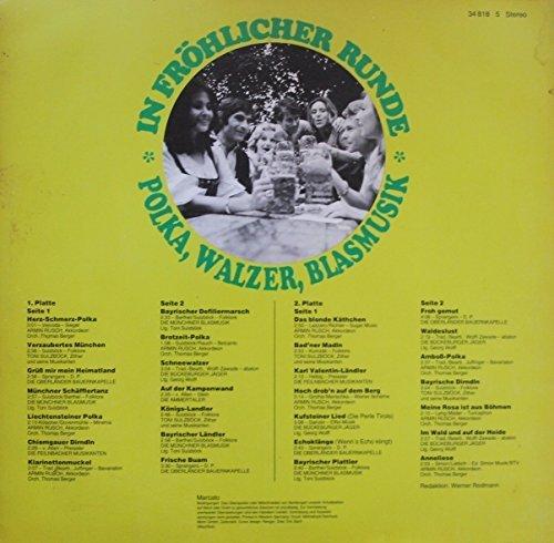 Bild 2: In fröhlicher Runde-Polka, Walzer, Blasmusik, Armin Rusch, Toni Sülzbock, Oberländer Bauernkapelle, Münchner Blasmusik..