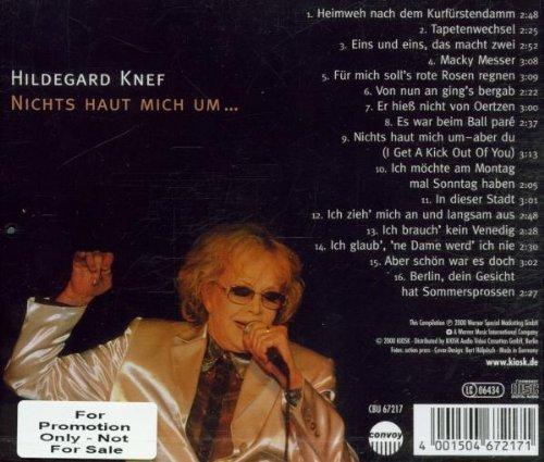 Bild 2: Hildegard Knef, Nichts haut mich um... (compilation, 16 tracks, 2000)