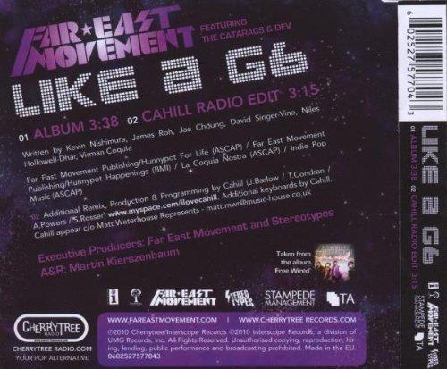 Bild 2: Far East Movement, Like a G6 (2010; 2 tracks, feat. Cataracs + Dev)