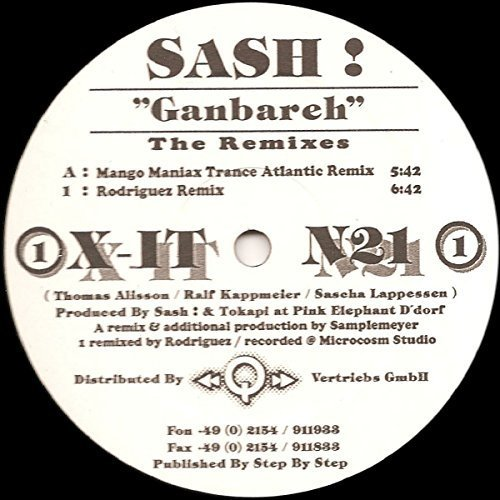 Фото 2: Sash!, Ganbareh Remixes (Mango Maniax Trance Atlantic/Rodriguez Remix)