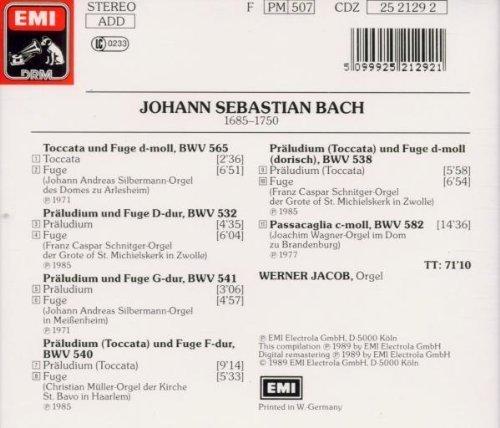 Bild 2: Bach, Toccaten und Fugen, BWV 565, 532, 541, 540, 538, 582 (1989, EMI) (Werner Jacob)