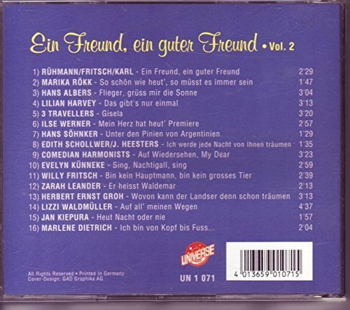Bild 2: Ein Freund, ein guter Freund 2, Rühmann/Fritsch/Karl, Marika Rökk, Hans Albers, Lilian Harvey..