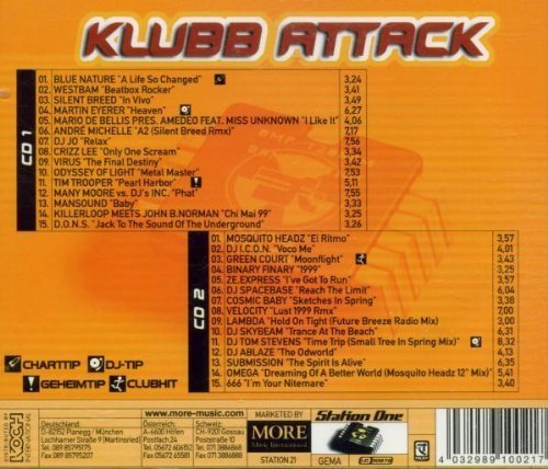 Bild 2: Klubb Attack (1999), Blue Nature, Westbam, Silent Breed, Martin Eyerer..