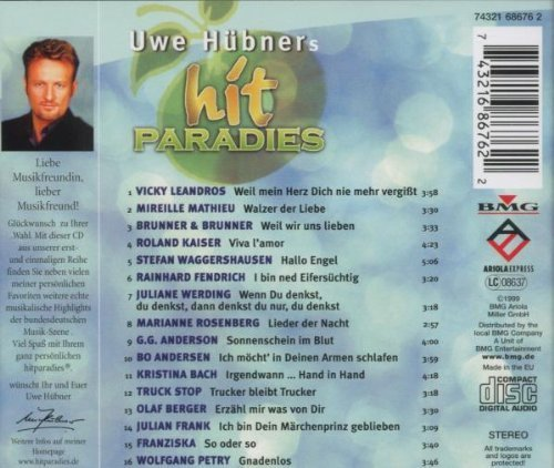 Bild 2: Uwe Hübner's Hitparadies (1999), Vicky Leandros, Mireille Mathieu, Brunner & Brunner, Roland Kaiser..