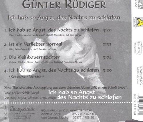 Bild 2: Günter Rüdiger, Ich hab so Angst, des Nachts zu schlafen (4 tracks)
