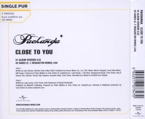 Bild 2: Pachanga, Close to you (incl. 'Sabes', 2 tracks)